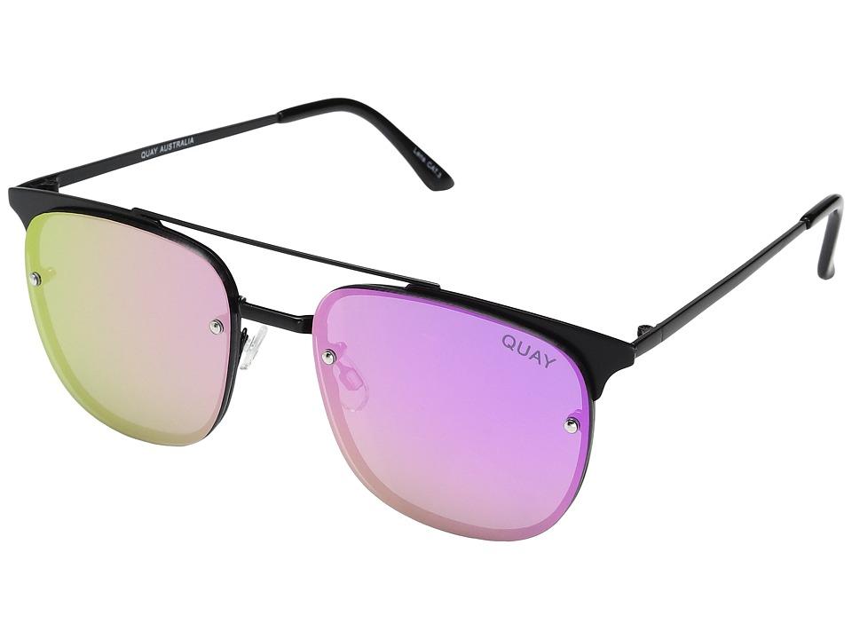 QUAY AUSTRALIA - Private Eyes (Black/Purple) Fashion Sunglasses