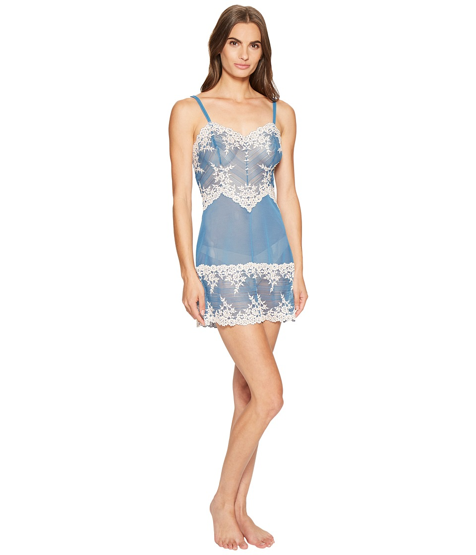 Wacoal - Embrace Lace Chemise (Blue Ashes/Soft Pink) Women's Lingerie