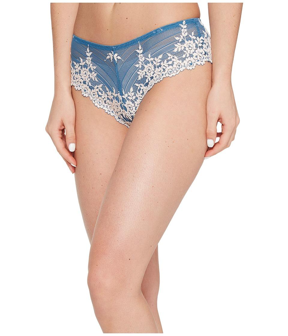Wacoal - Embrace Lace Tanga (Blue Ashes/Soft Pink) Women's Underwear