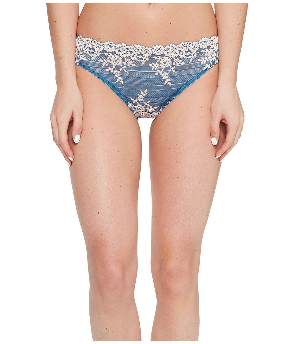 Wacoal - Embrace Lace Bikini (Blue Ashes/Soft Pink) Women's Underwear