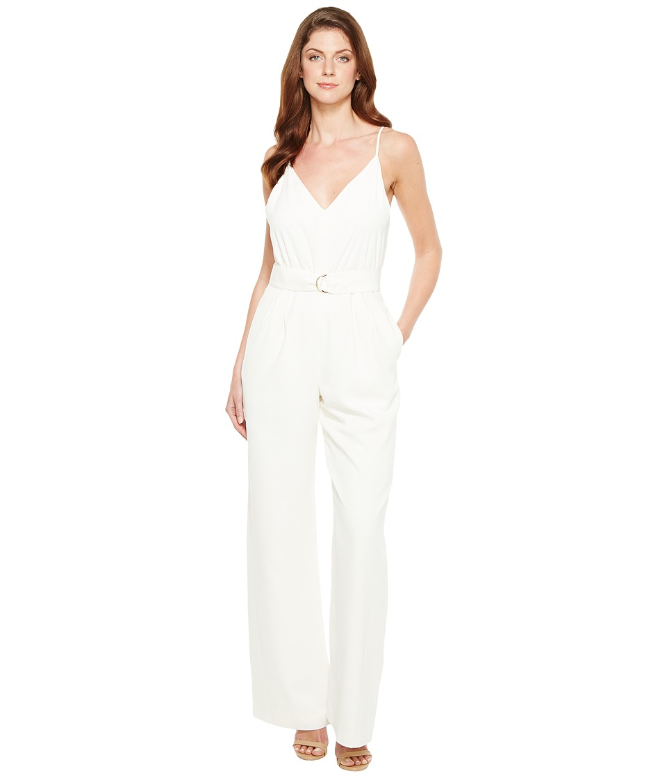 JILL JILL STUART - 2-Ply D-Ring Jumpsuit (Off-White) Women's Jumpsuit & Rompers One Piece