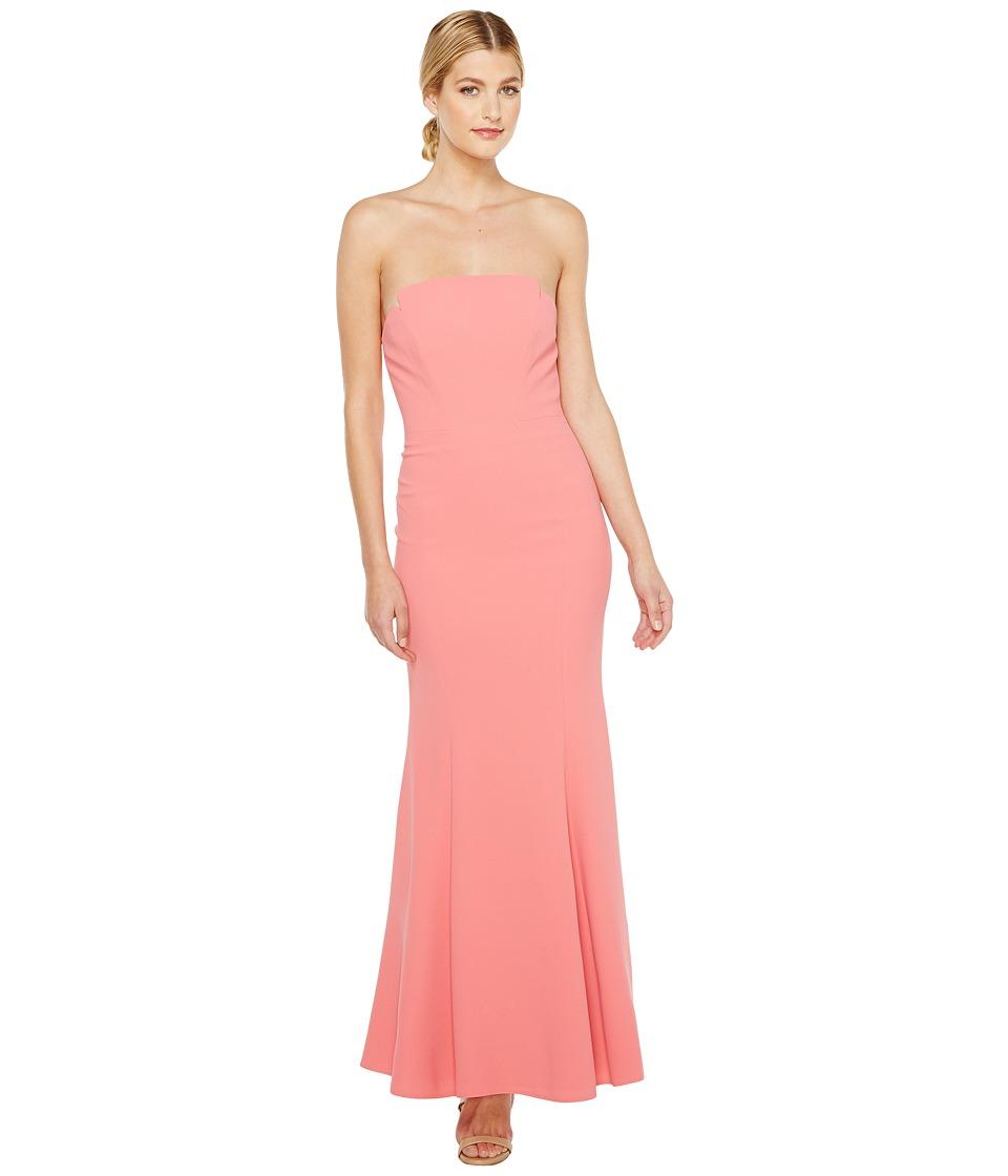 JILL JILL STUART - Harlow Strapless Hourglass Gown (Hibiscus) Women's Dress