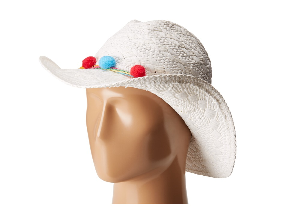 Betsey Johnson - Fiesta Panama Hat (Ivory) Traditional Hats