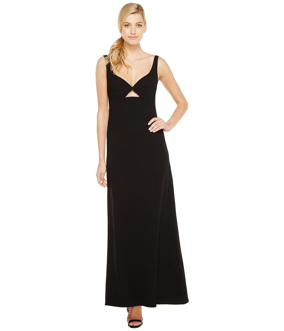 JILL JILL STUART - Keyhole Crepy Gown (Black) Women's Dress