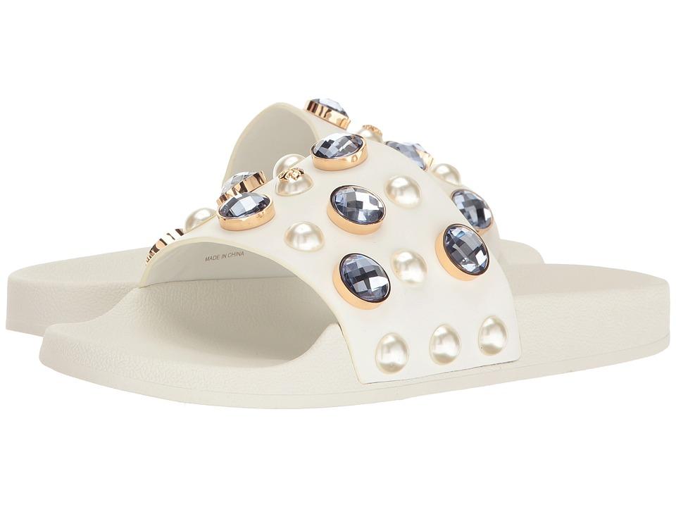 Tory Burch - Vail Slide (White) Women's Slide Shoes