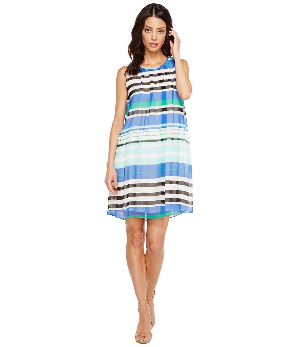 Calvin Klein Printed A-line Dress (Manganese Combo) Women