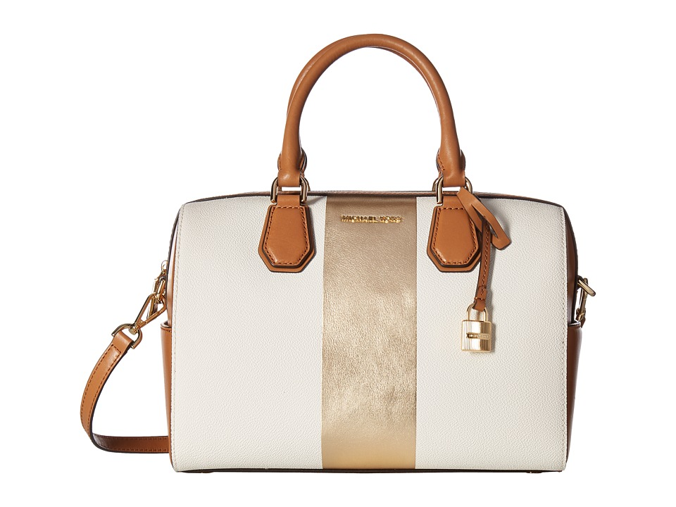 MICHAEL Michael Kors - Center Stripe Mercer Medium Duffel (Vanilla) Duffel Bags