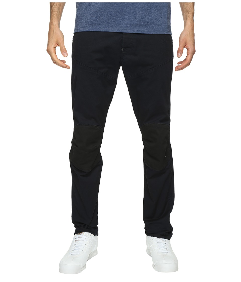 G-Star - 5620 3D Tapered Trainer Pattern Mix Colored Jeans in Dark Police Blue/Mazarine Blue Overdye (Dark Police Blue/Mazarine Blue Overdye) Men's Jeans