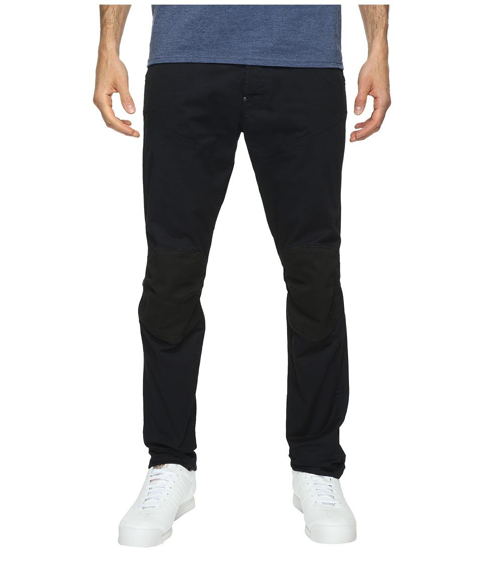 G-Star 5620 3D Tapered Trainer Pattern Mix Colored Jeans in Dark Police Blue/Mazarine Blue Overdye (Dark Police Blue/Mazarine Blue Overdye) Men
