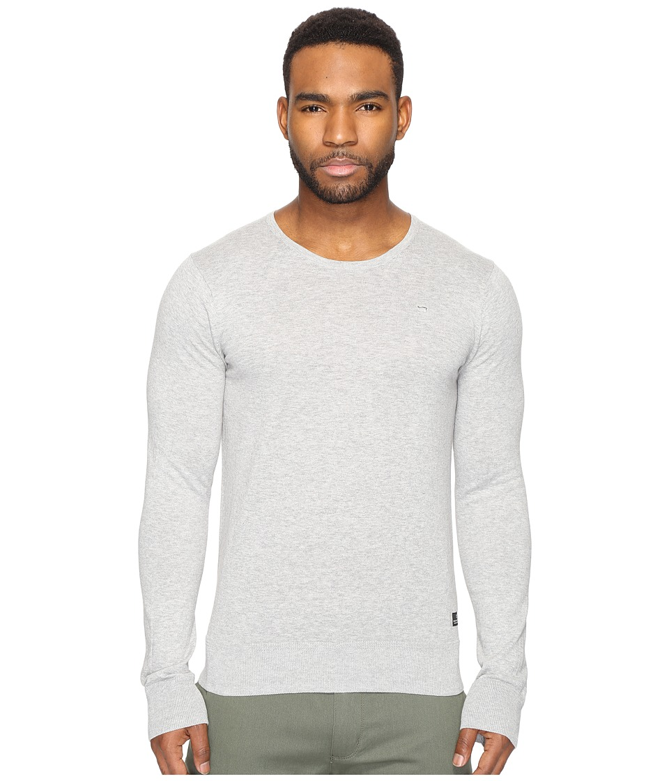 Scotch & Soda - Classic Cotton Melange Crew Neck Pull (Grey Melange) Men's Clothing