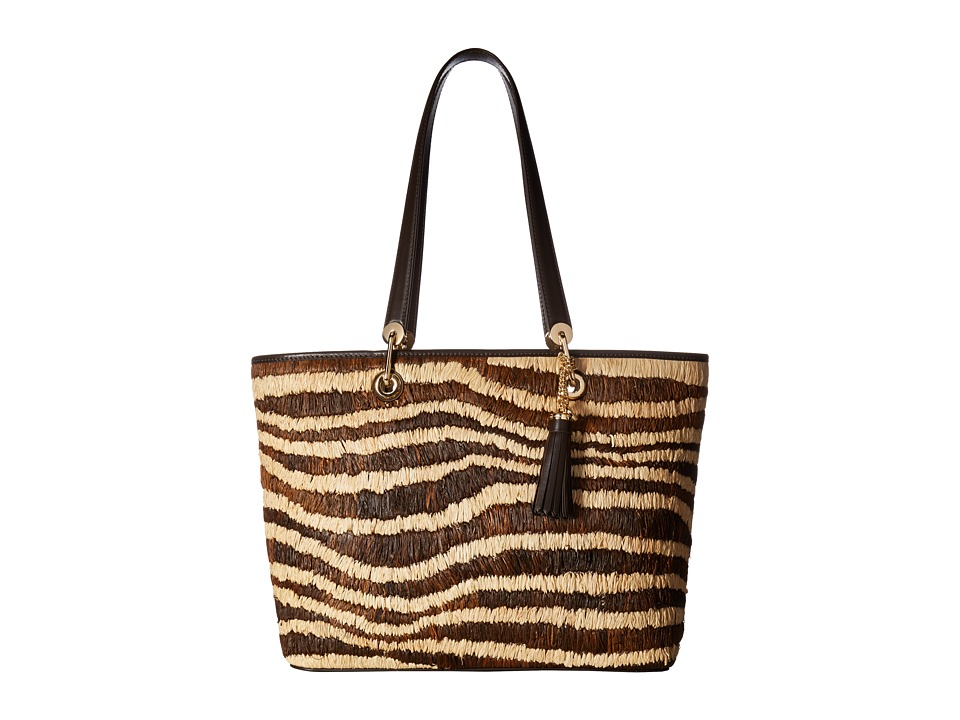 MICHAEL Michael Kors - Malibu Large East/West Top Zip Tote (Natural) Tote Handbags
