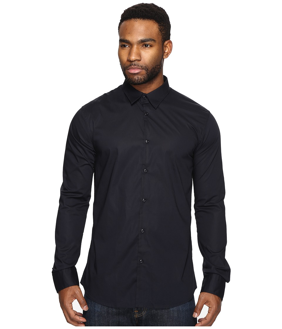 Scotch & Soda - Classic Long Sleeve Shirt in Crispy Cotton (Night) Men's Clothing