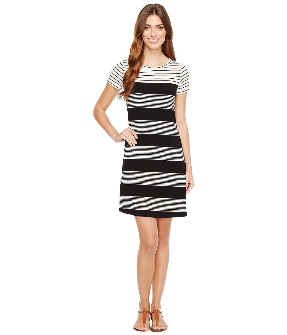 Calvin Klein - Striped T-Shirt Dress (Black/White Raf) Women's Dress
