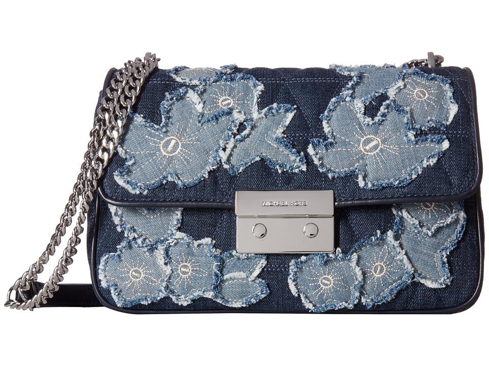 MICHAEL Michael Kors - Sloan Large Chain Shoulder (Indigo) Shoulder Handbags