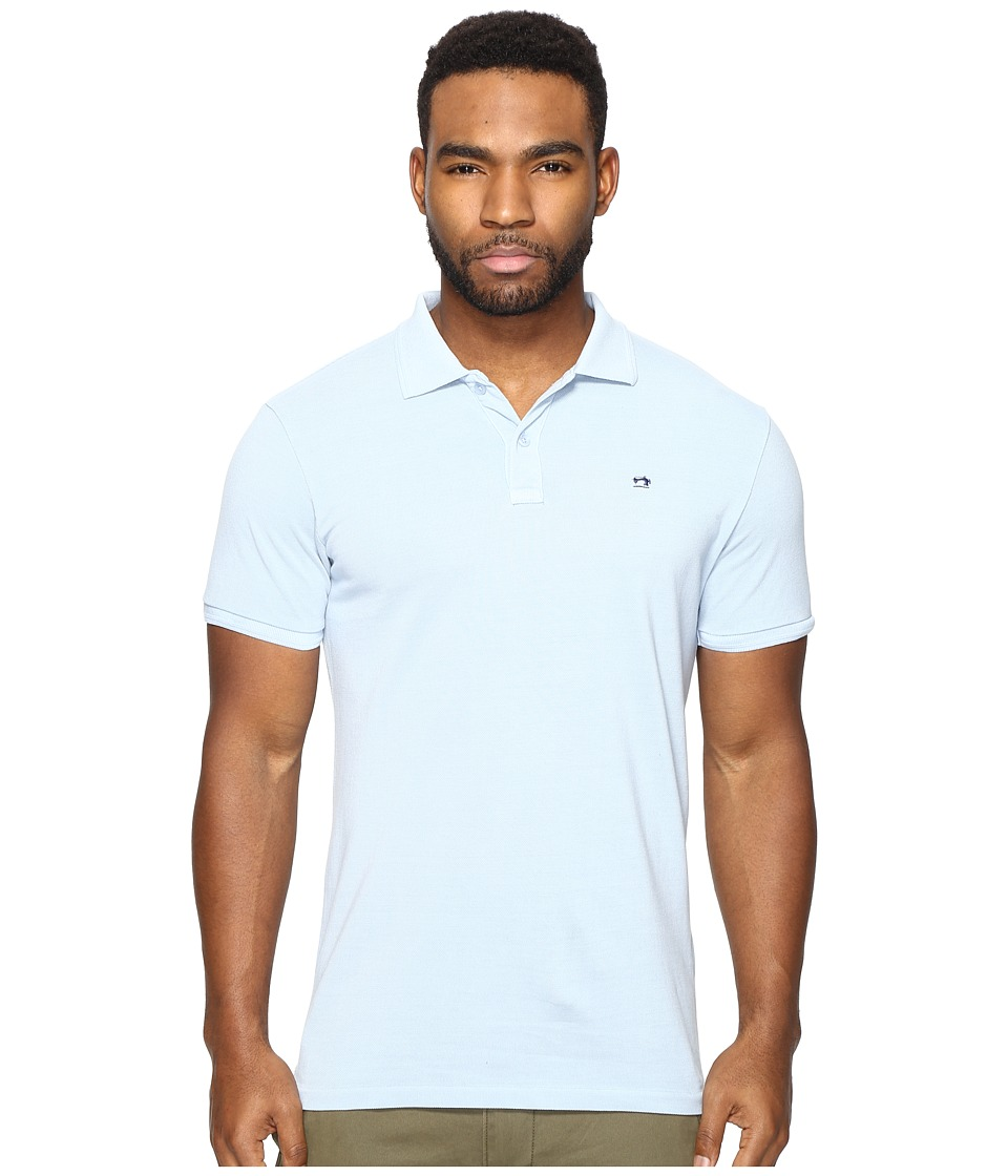 Scotch & Soda - Classic Garment Dyed Pique Polo (Blue) Men's Short Sleeve Pullover