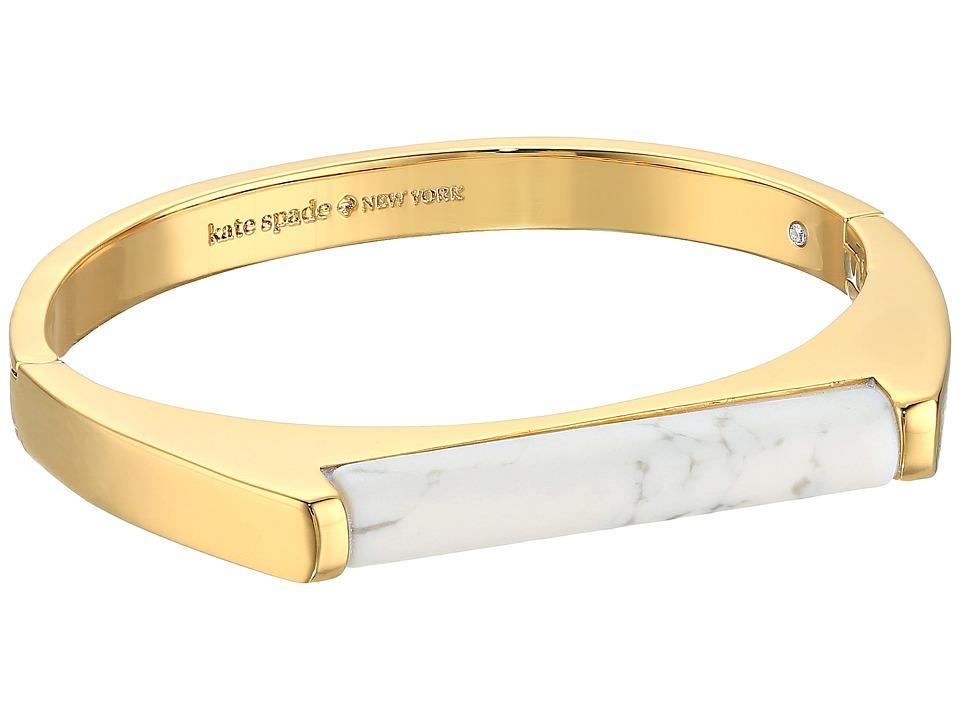 Kate Spade New York - Building Blocks Bangle (White) Bracelet
