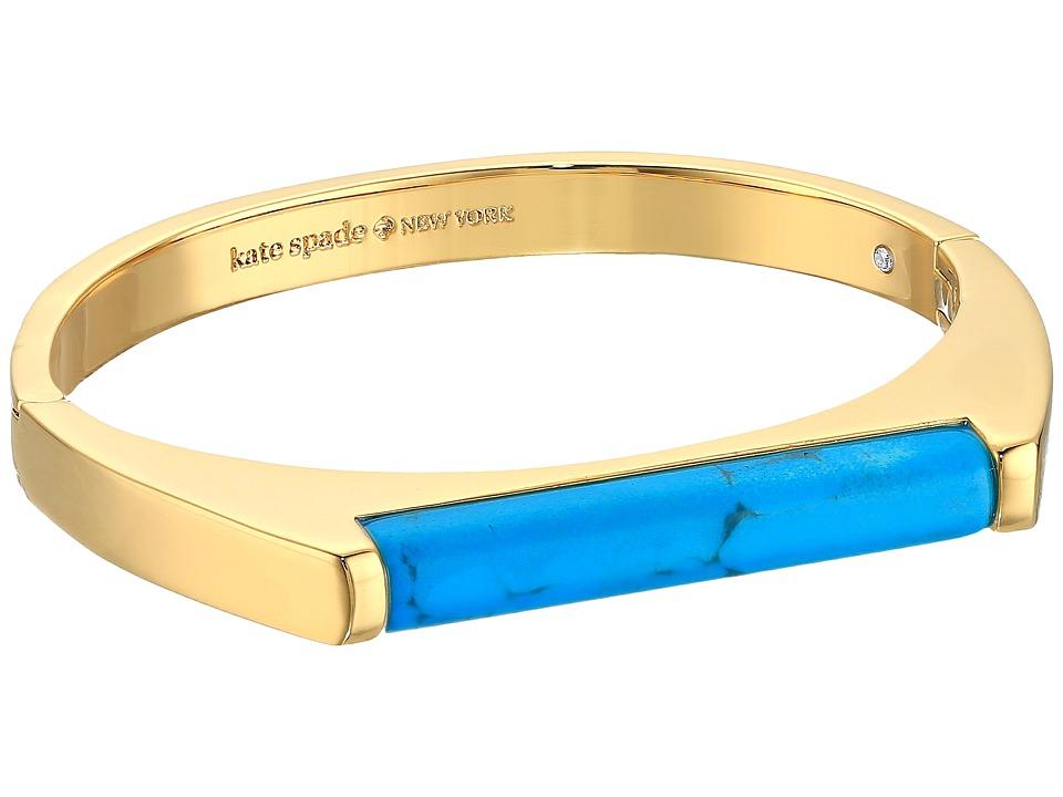 Kate Spade New York - Building Blocks Bangle (Turquoise) Bracelet