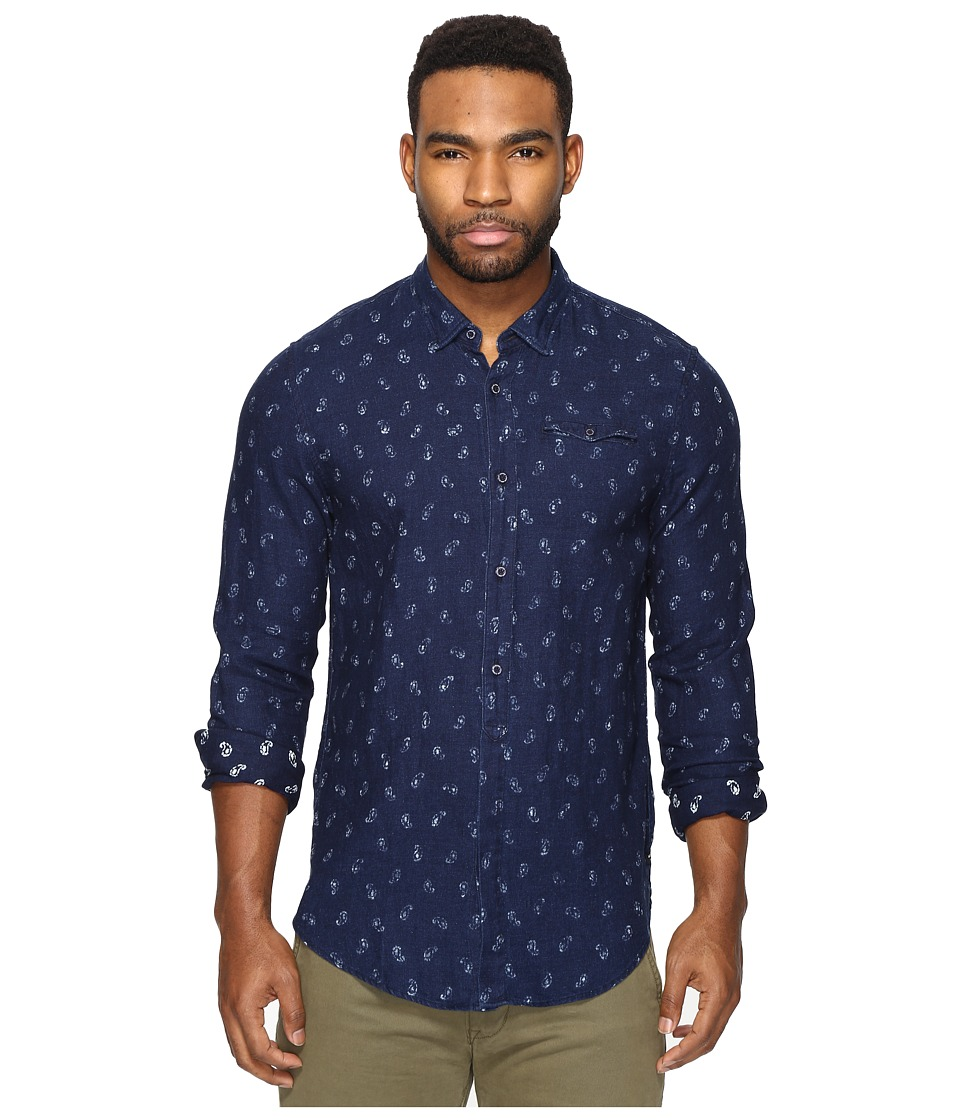 Scotch & Soda - Button Down Indigo Clean Shirt (Combo D) Men's Clothing