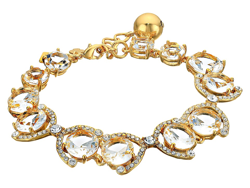 Kate Spade New York - Crystal Cascade Bracelet (Clear/Gold) Bracelet