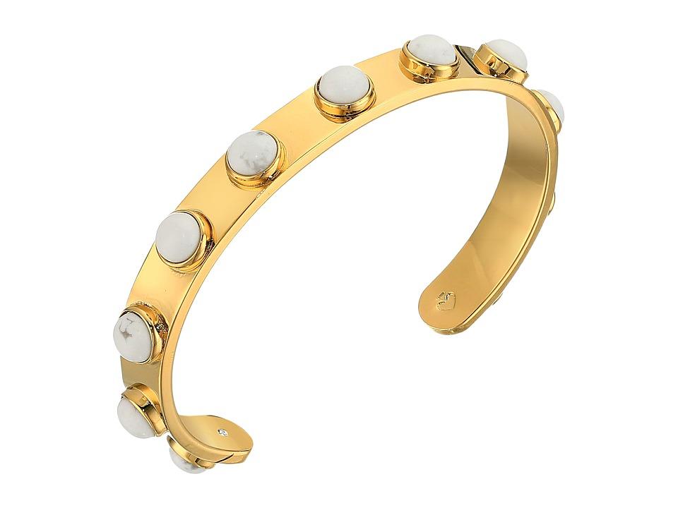 Kate Spade New York - Tag Along Cuff Bracelet (White) Bracelet