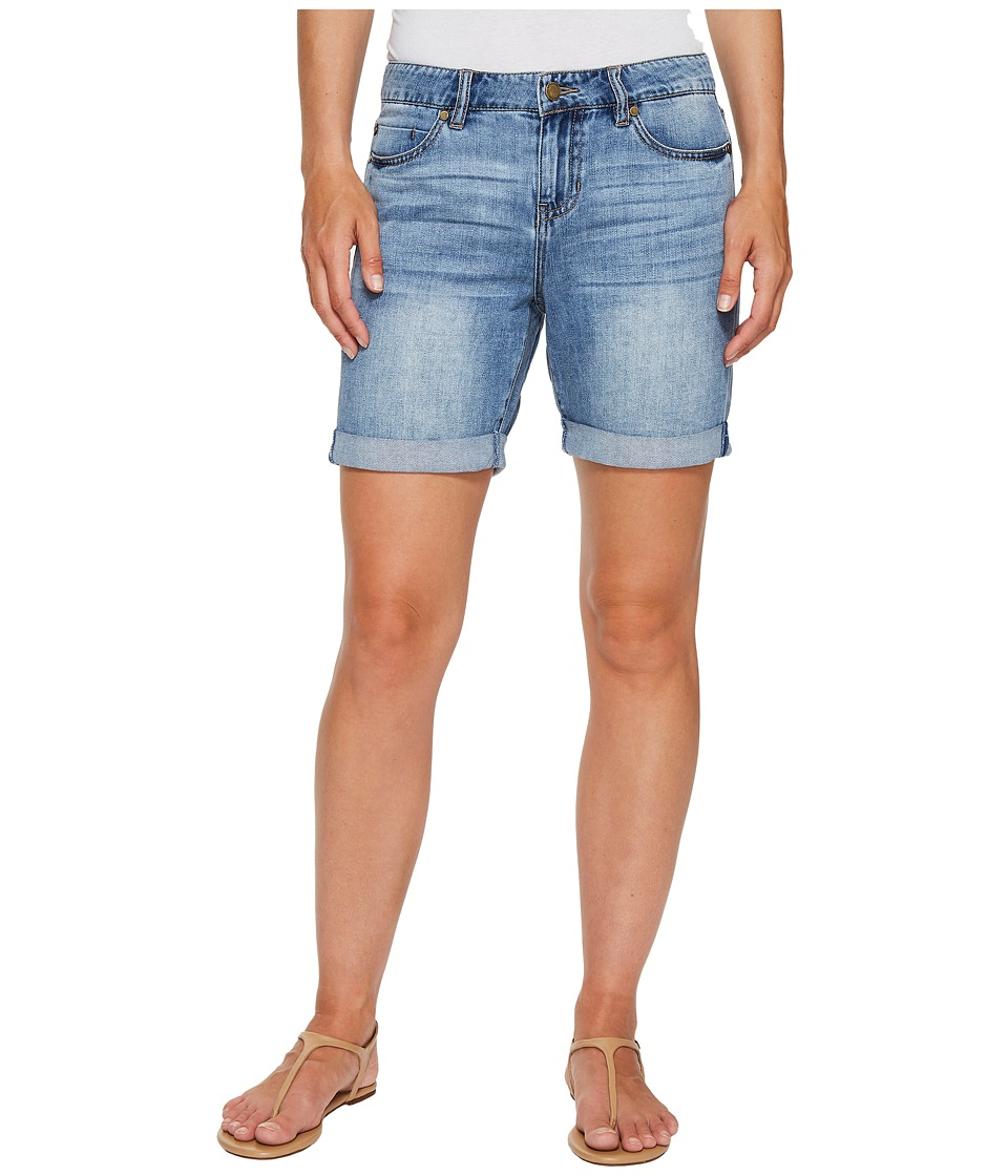Liverpool - Sonny Walking Shorts in Soft Rigid Denim in Denmark Mid Blue (Denmark Mid Blue) Women's Shorts