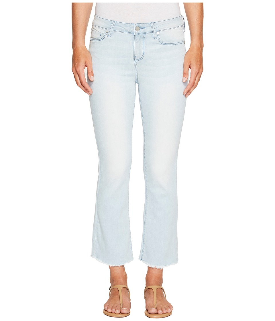 Liverpool - Hannah Cropped Flare with Fringe in Power Blue Soft Denim in Idyllwild Bleach (Idyllwild Bleach) Women's Jeans