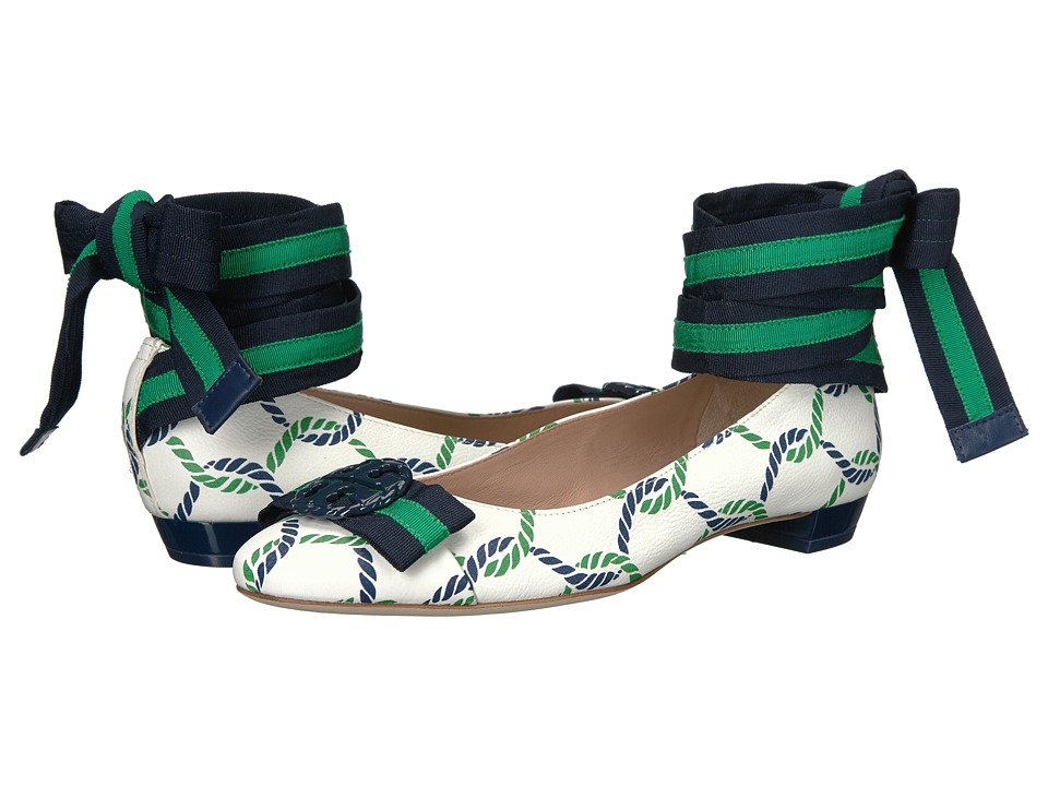 Tory Burch - Maritime Ballet (Isle Ropes/Navy) Women's Shoes