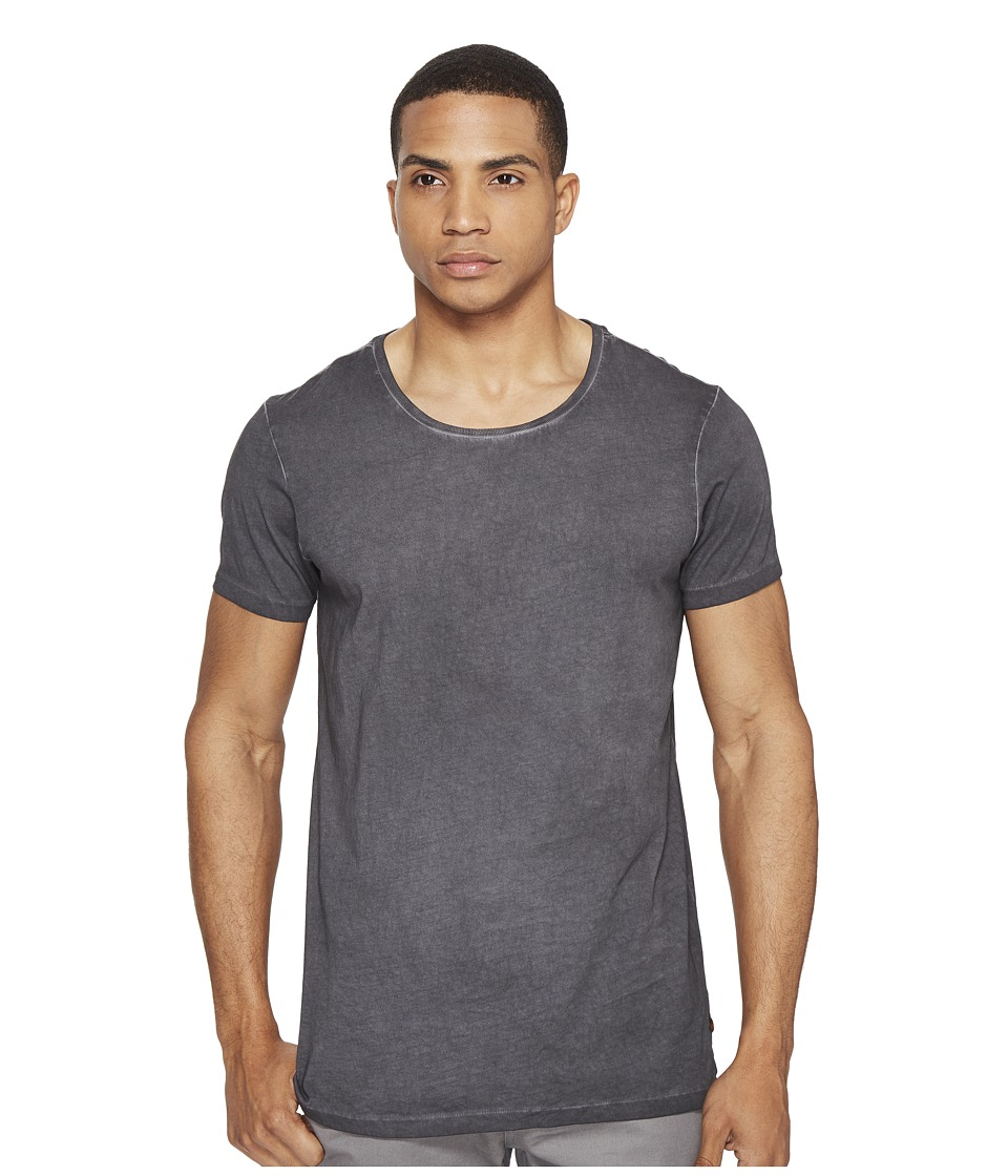 Scotch & Soda - Tee with Uneven Bottom in Lightweight Jersey Quality (Antra) Men's T Shirt