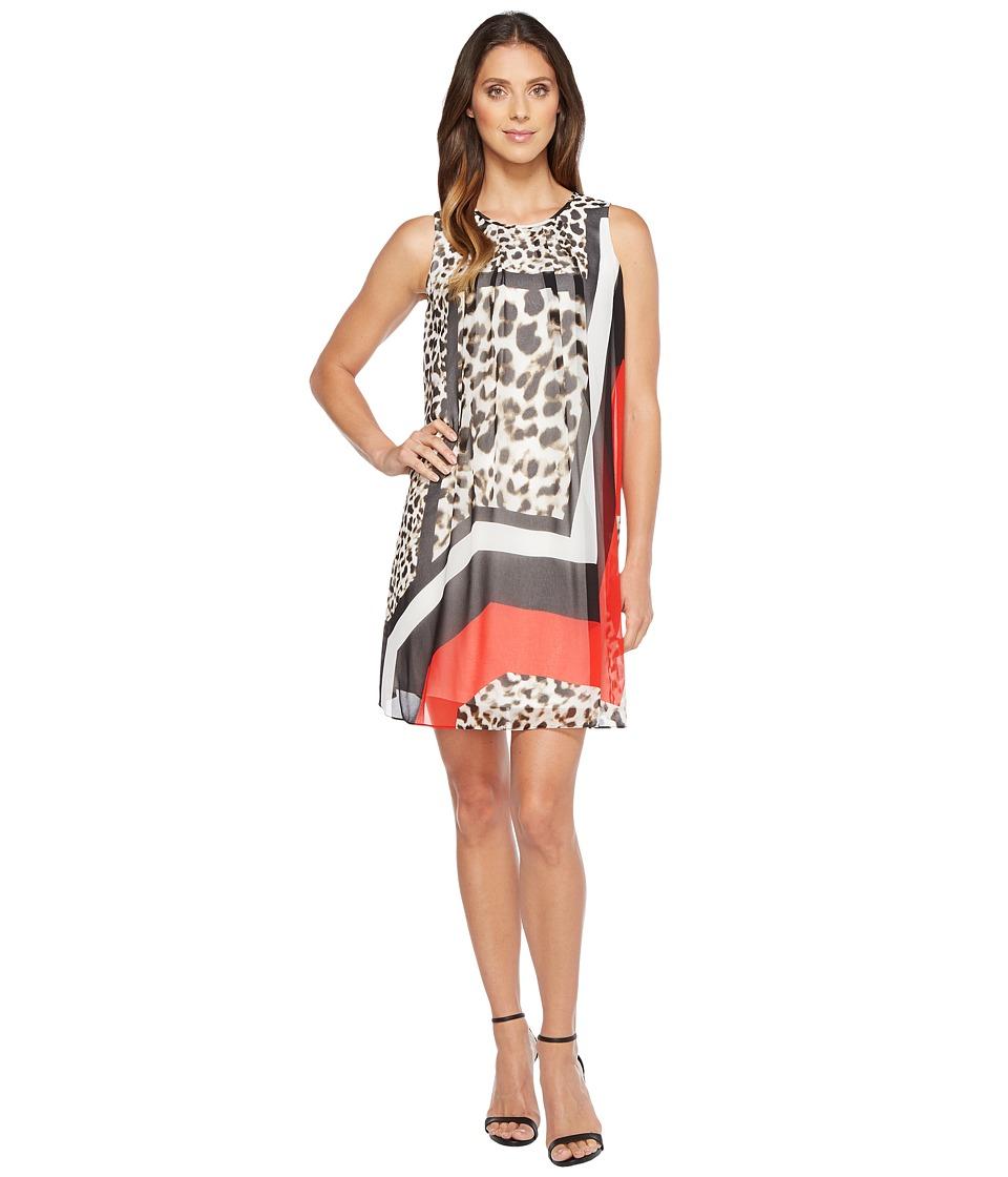 Calvin Klein - Printed A-line Dress (Leopard Combo) Women's Dress