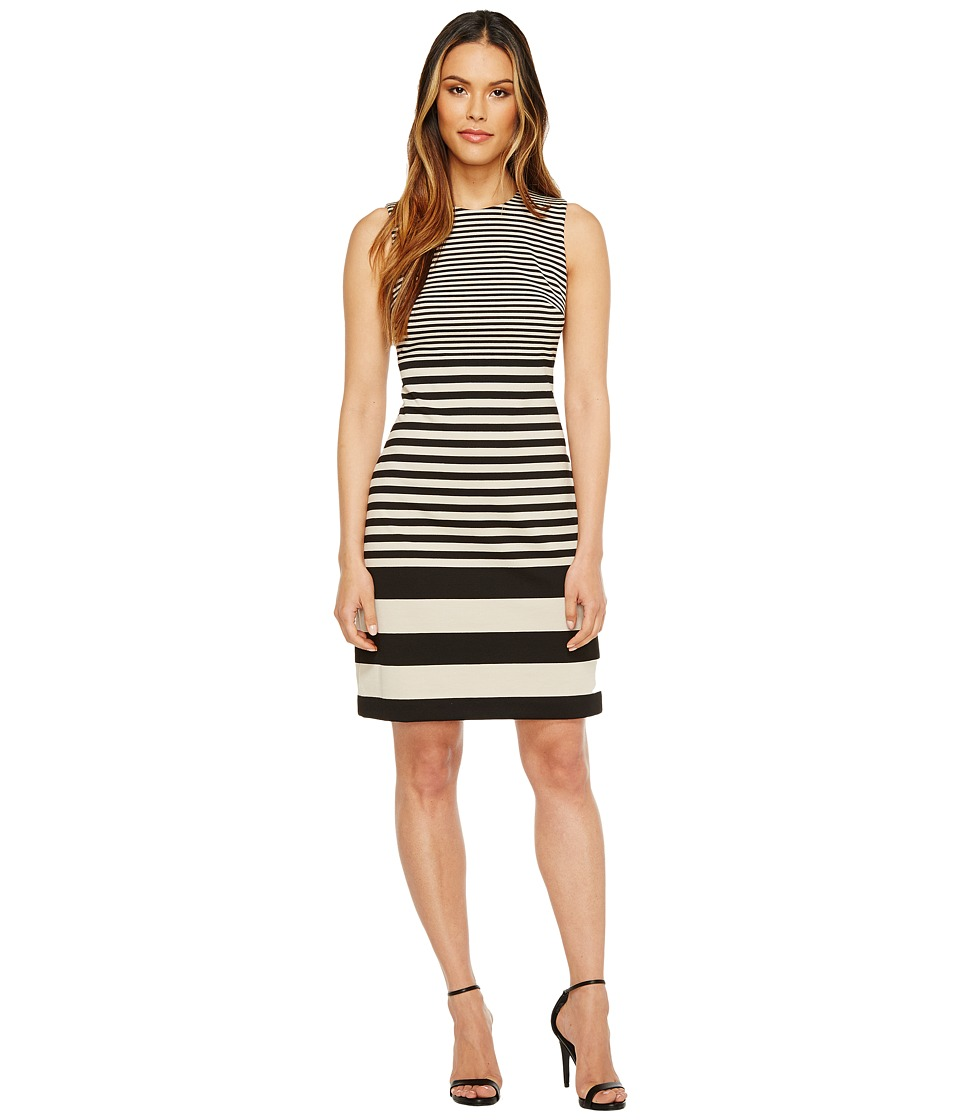 Calvin Klein Sleeveless Stripe Sheath Dress