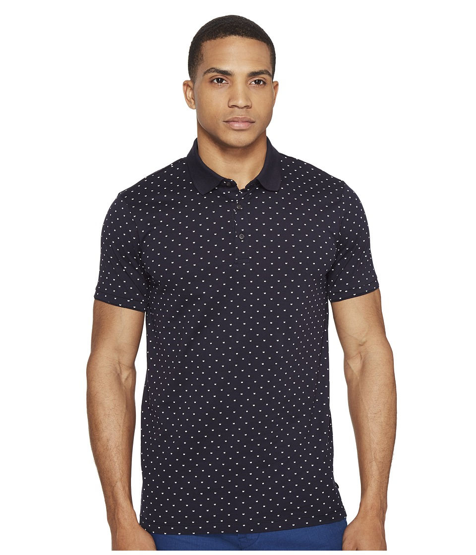 Scotch & Soda - Polo in Mercerized Jersey Quality with Mini All Over Print (Combo A) Men's Clothing