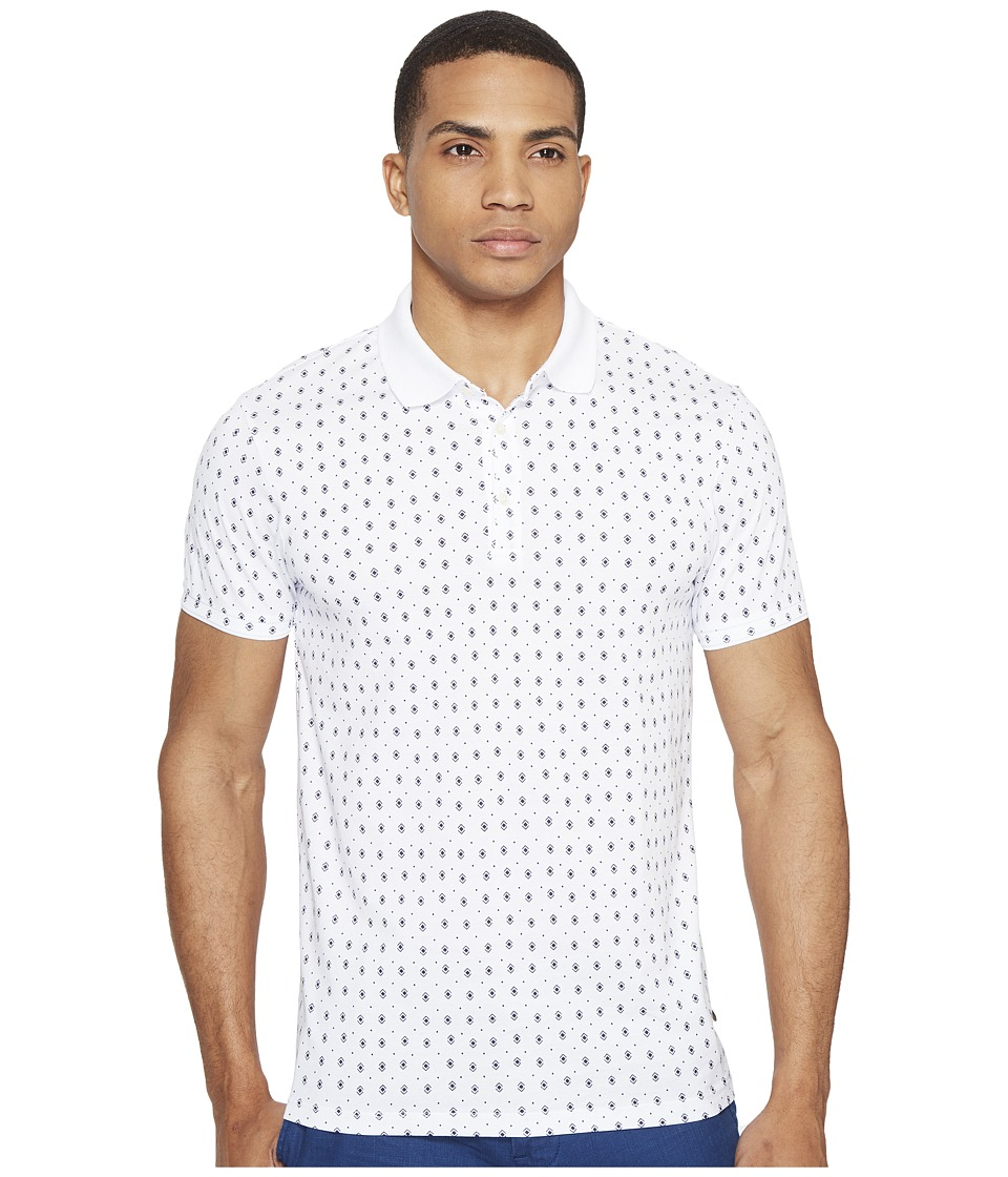 Scotch & Soda - Polo in Mercerized Jersey Quality with Mini All Over Print (Combo B) Men's Clothing
