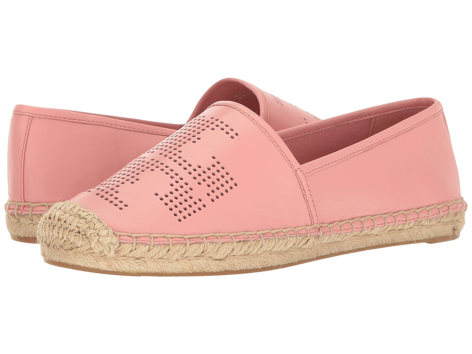 Tory Burch - Perf Logo Espadrille (Retro Pink) Women's Shoes