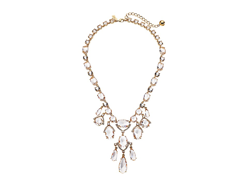 Kate Spade New York - Crystal Cascade Statement Necklace (Clear/Gold) Necklace
