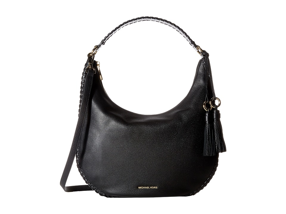 MICHAEL Michael Kors - Lauryn Large Shoulder (Black) Handbags