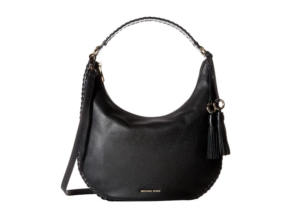 MICHAEL Michael Kors - Lauryn Large Shoulder (Black) Handbags