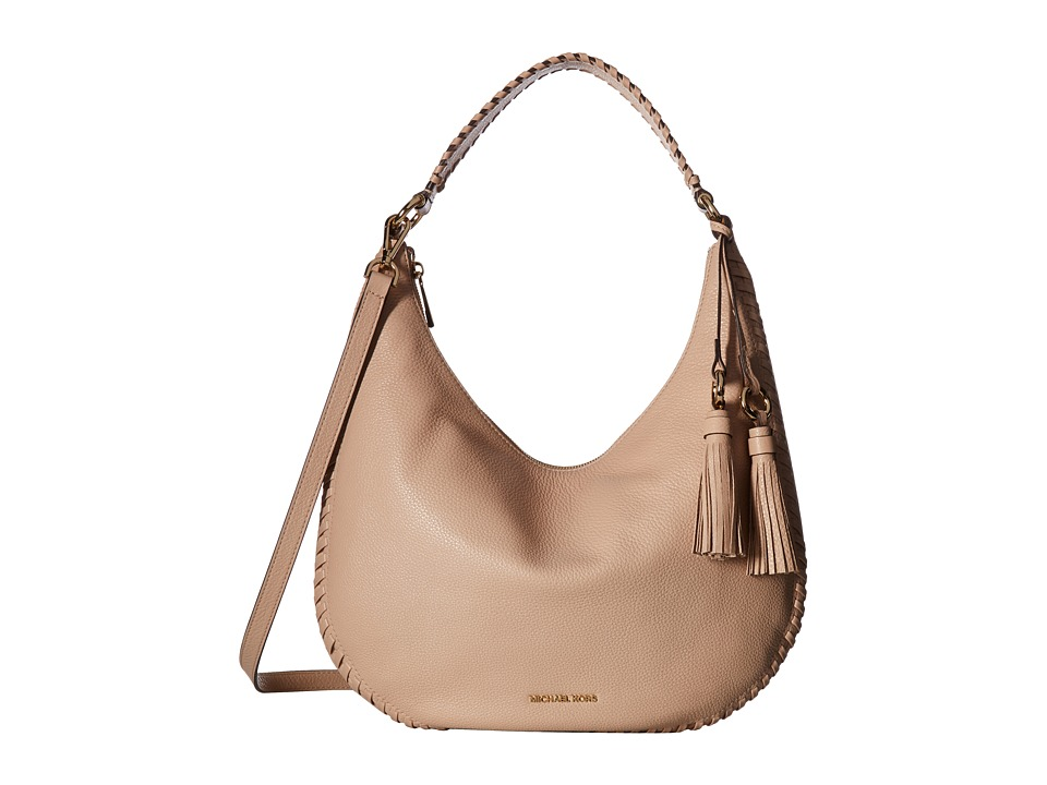 MICHAEL Michael Kors - Lauryn Large Shoulder (Oyster) Handbags