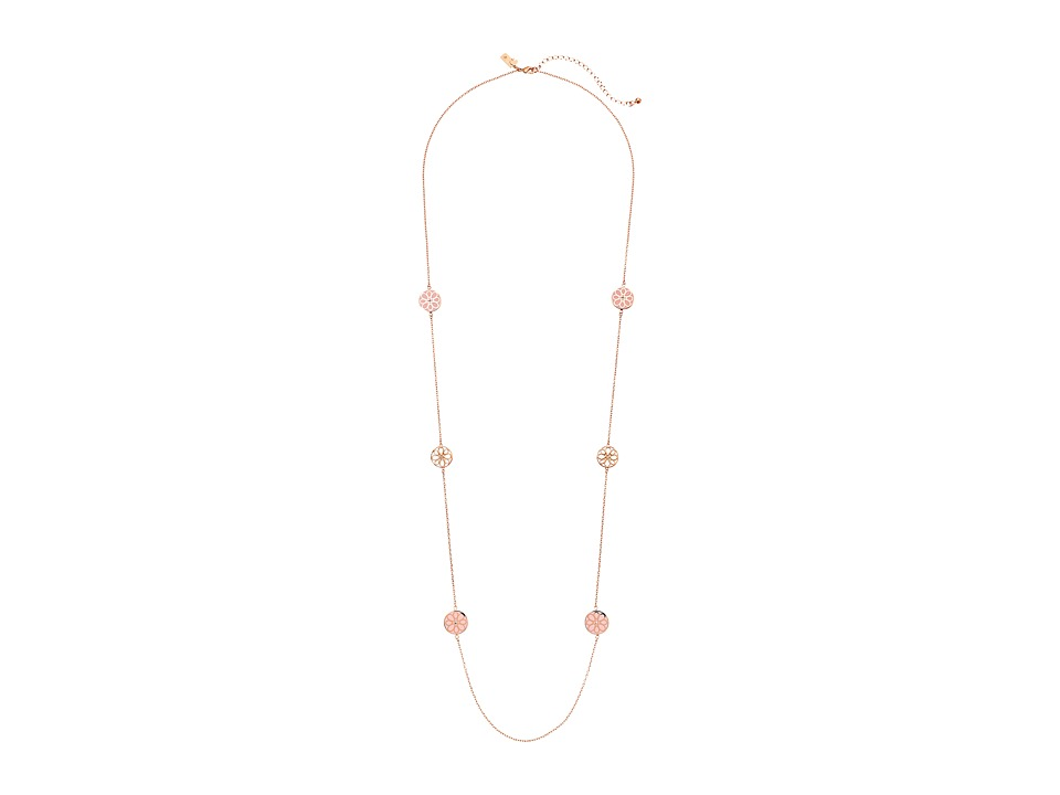 Kate Spade New York - Icon Floral Scatter Necklace (Blush) Necklace