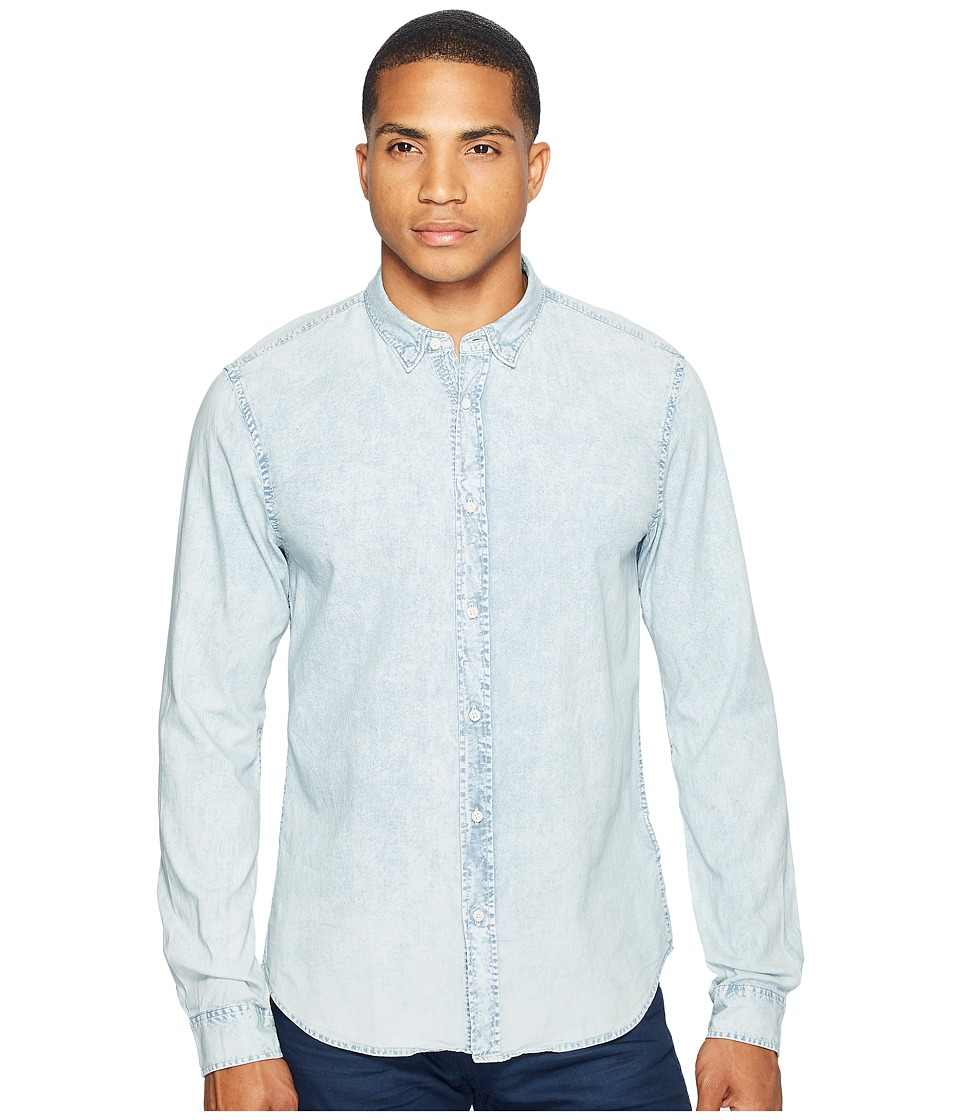 Scotch & Soda - Classic Denim Shirt in Cotton Quality (Blue Wash) Men's Clothing