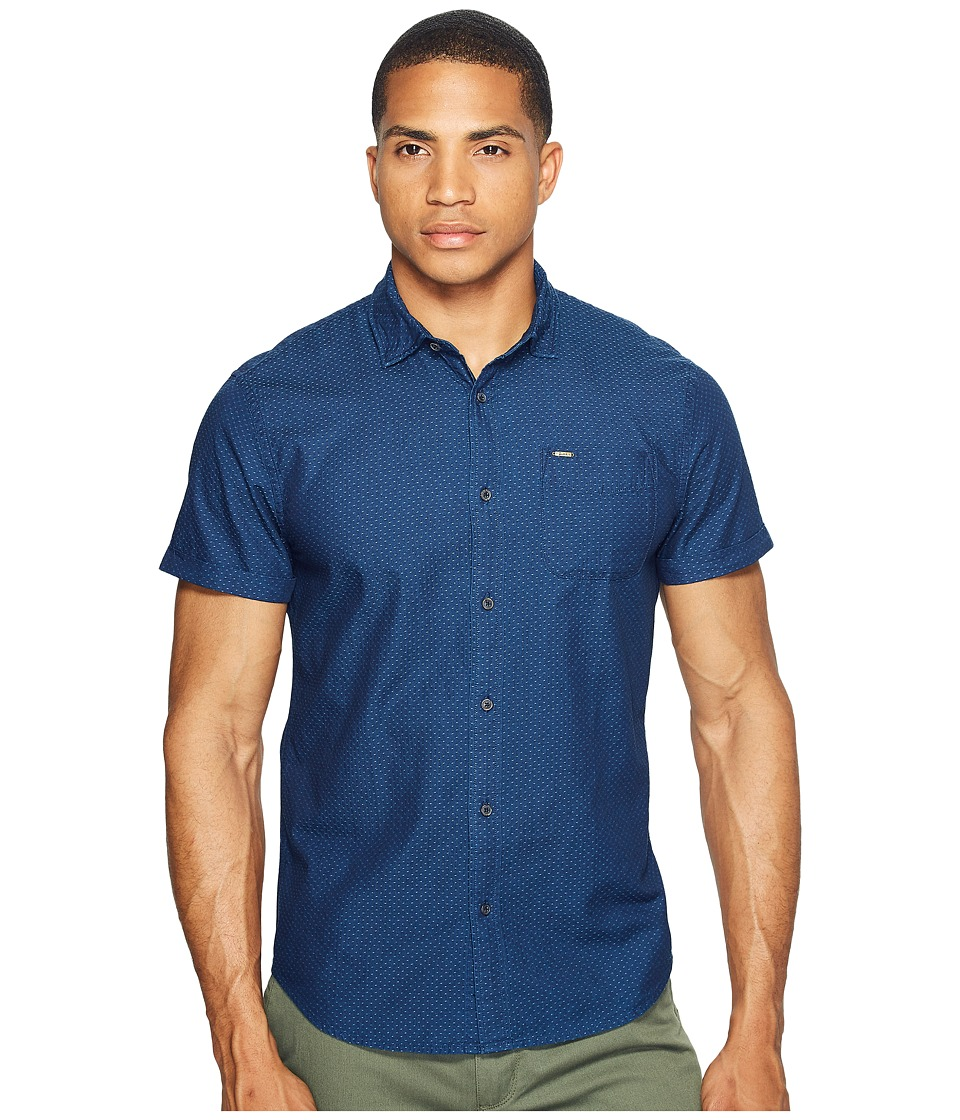 Scotch & Soda - Short Sleeve Shirt in Structured Cotton Quality (Combo B) Men's Clothing