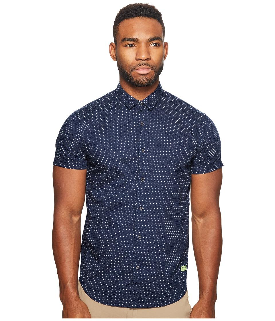 Scotch & Soda - Classic Short Sleeve Shirt in Crispy Poplin Quality with Mini (Combo A) Men's Clothing