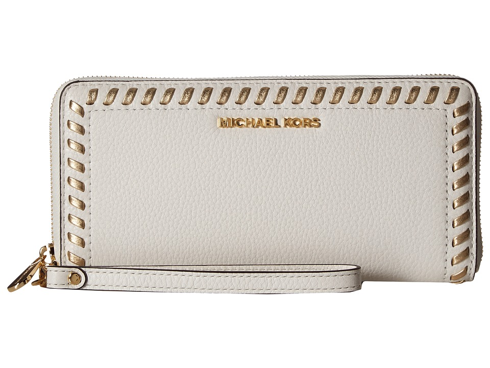 MICHAEL Michael Kors - Lauryn Travel Continental (Optic White) Handbags
