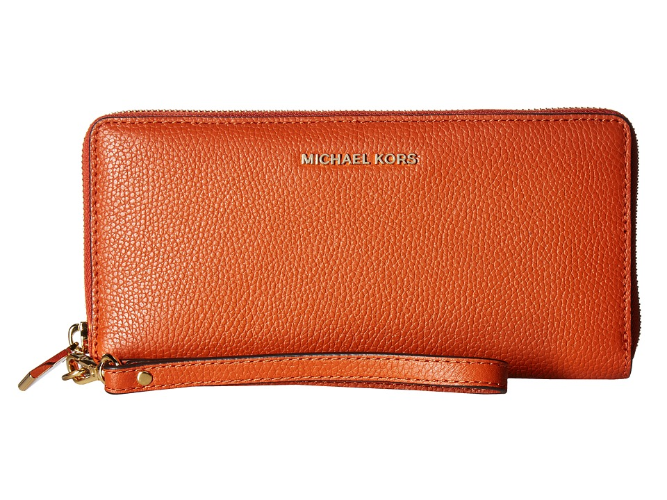 MICHAEL Michael Kors - Mercer Travel Continental (Orange) Travel Pouch