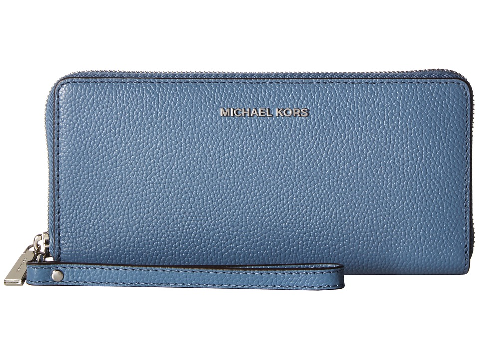 MICHAEL Michael Kors - Mercer Travel Continental (Denim) Travel Pouch