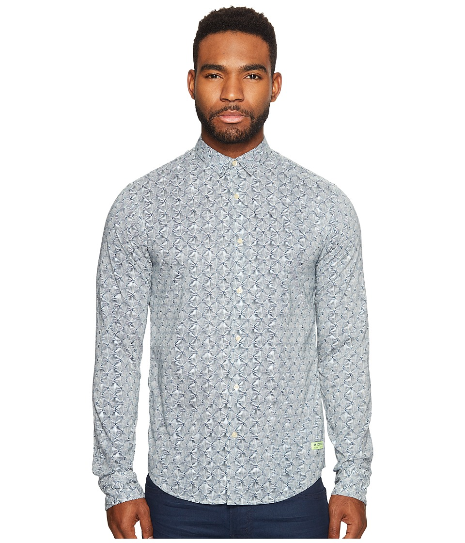 Scotch & Soda - Long Sleeve Shirt in Cotton Voile Quality with Colorful All Over (Combo E) Men's Clothing