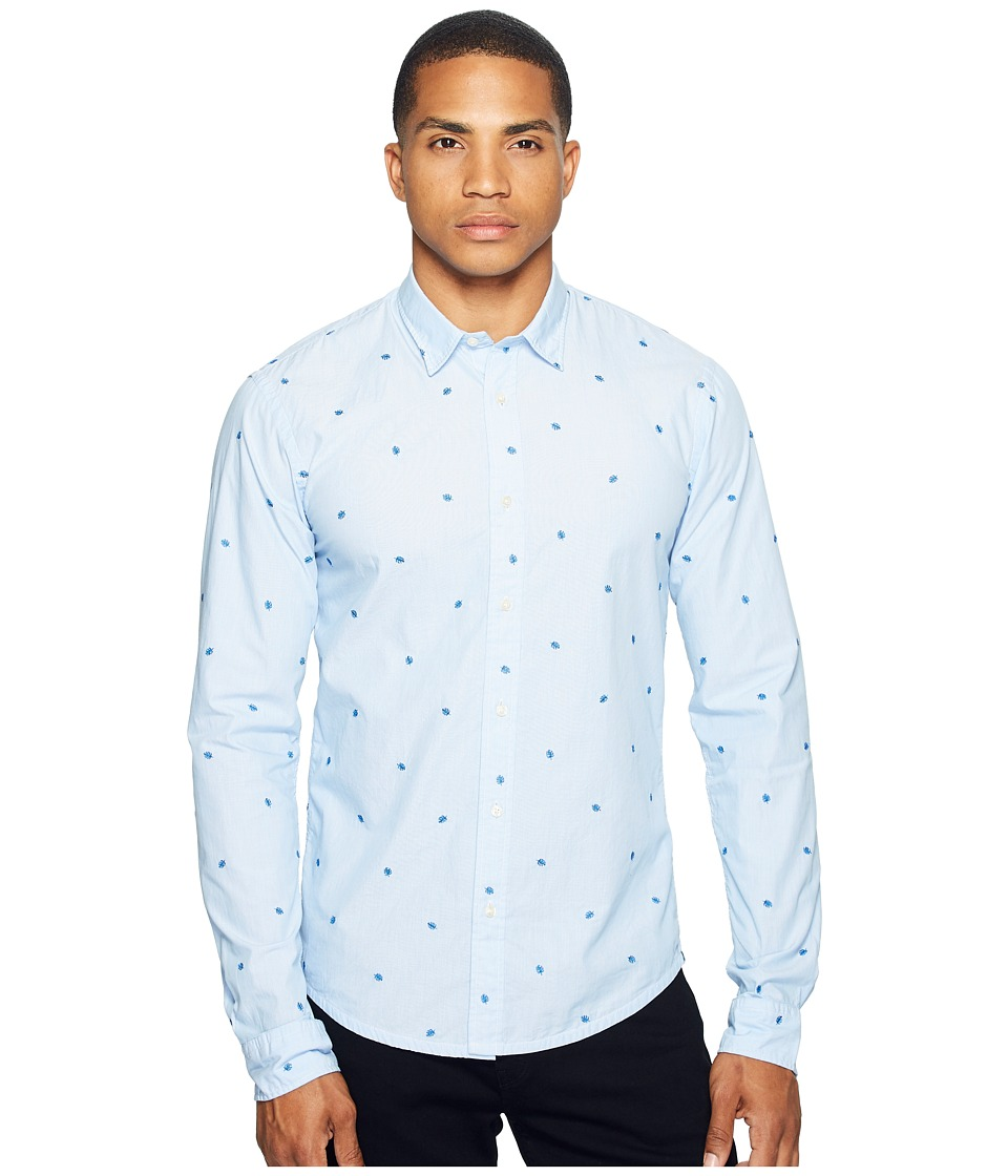 Scotch & Soda - Long Sleeve Shirt in Cotton Quality with All Over Mini Embroidered (Combo A) Men's Clothing