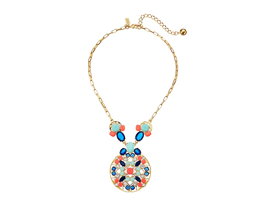 Kate Spade New York - Jeweled Tile Short Necklace (Multi) Necklace
