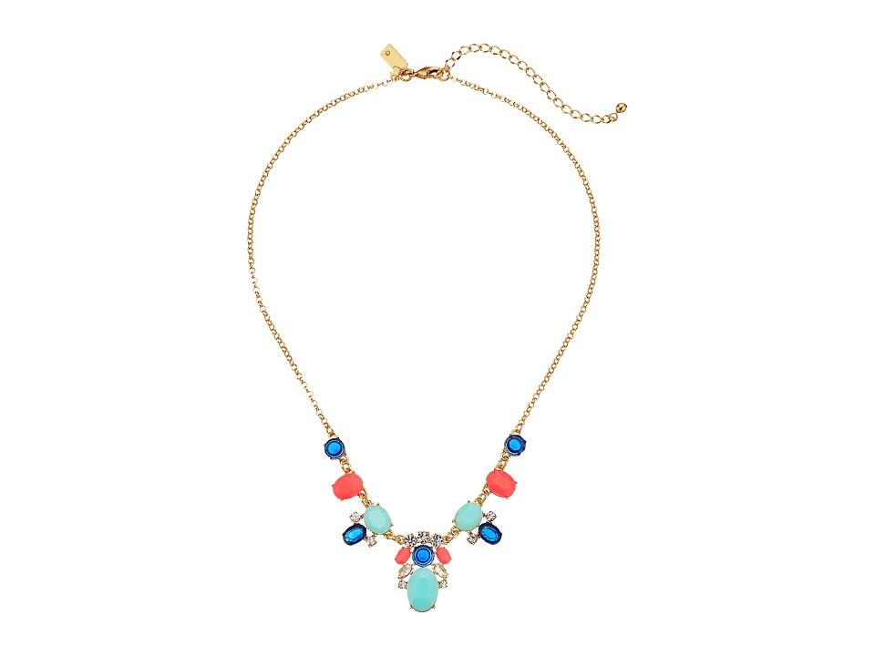 Kate Spade New York - Jeweled Tile Mini Necklace (Multi) Necklace