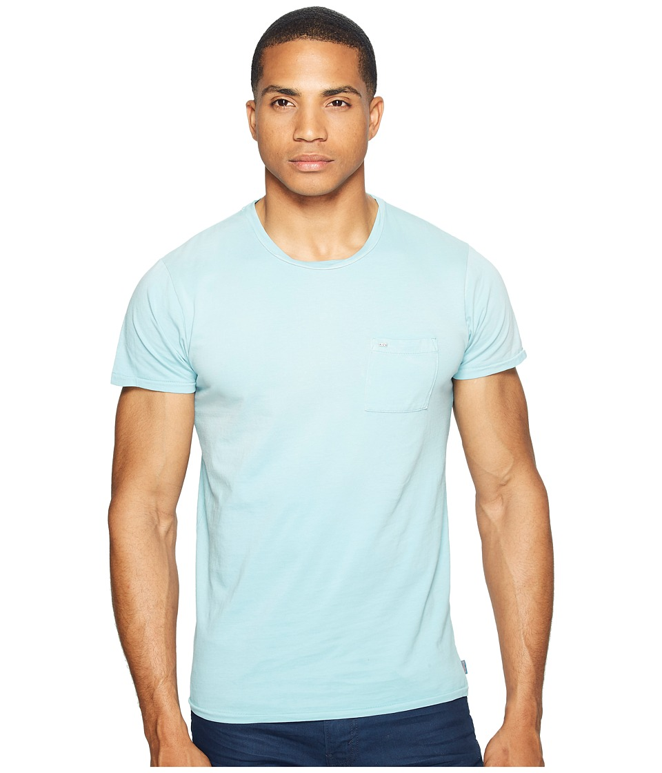 Scotch & Soda - Garment Dyed Twisted Crew Neck Tee in Lightweight Jersey Quality (Surf Blue) Men's T Shirt