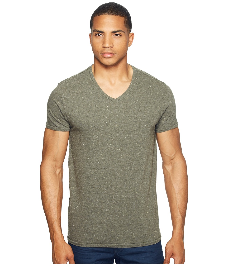 Scotch & Soda - V-Neck Tee in Jersey Melange Quality with Neps (Army Melange) Men's T Shirt